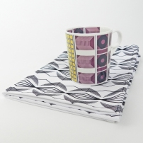 diamond mug & tea towel set